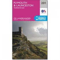 Landranger 201 Plymouth & Launceston, Tavistock & Looe