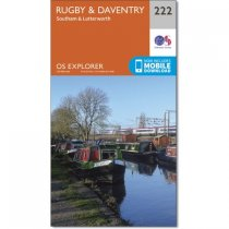 Explorer 222 Rugby & Daventry, Southam & Lutterworth