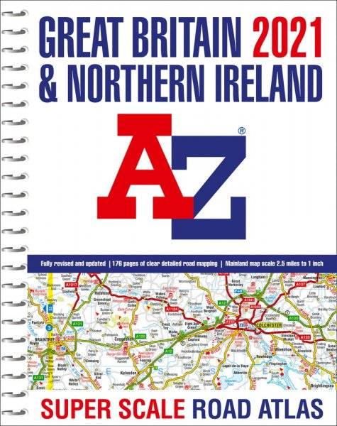 Great Britain Road Atlas 2021 Super Scale A3 spiral