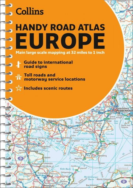 Handy Road Atlas Europe 2021 A5 Spiral(Collins)