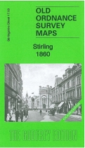 Old OS Map Stirling 1860 Coloured